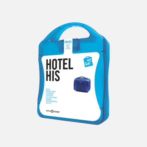 Blå Maskulint hotellkit med reklamtryck