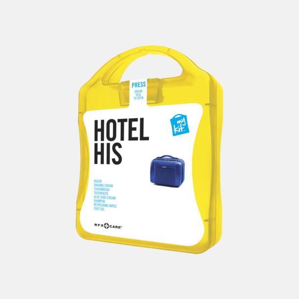Gul Maskulint hotellkit med reklamtryck