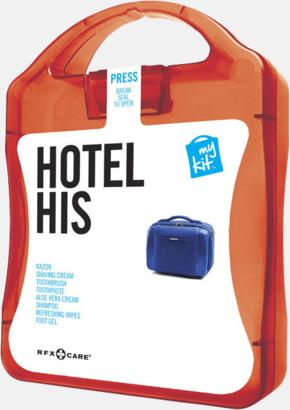 Röd Maskulint hotellkit med reklamtryck
