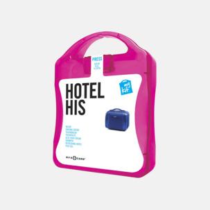 Maskulint hotellkit med reklamtryck
