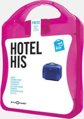 Magenta Maskulint hotellkit med reklamtryck
