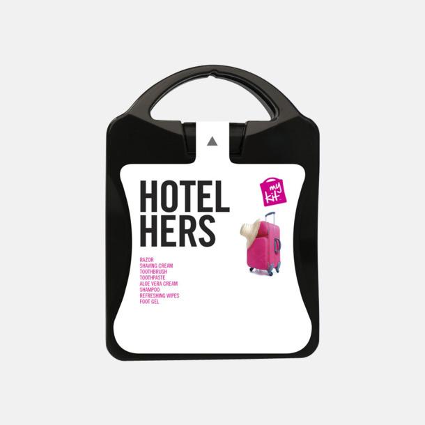 Feminint hotellkit med reklamtryck