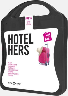 Svart Feminint hotellkit med reklamtryck
