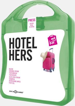 Grön Feminint hotellkit med reklamtryck