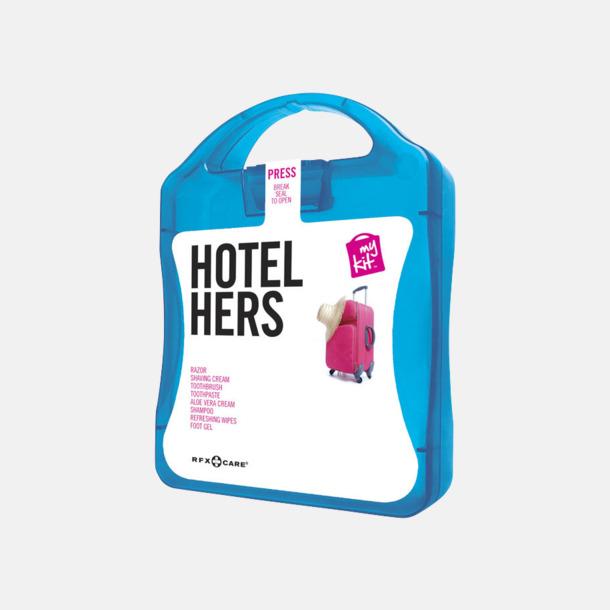 Blå Feminint hotellkit med reklamtryck
