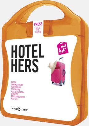 Orange Feminint hotellkit med reklamtryck