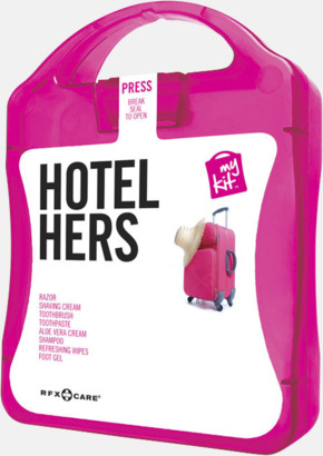 Magenta Feminint hotellkit med reklamtryck