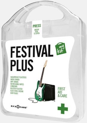 Vit Festivalkit med reklamtryck