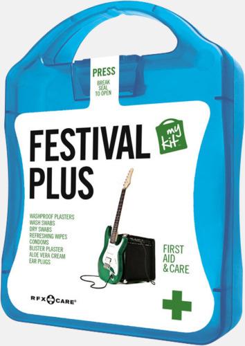Blå Festivalkit med reklamtryck