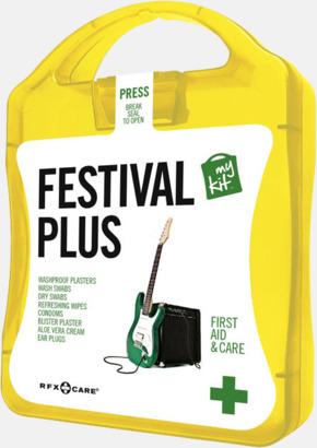 Gul Festivalkit med reklamtryck