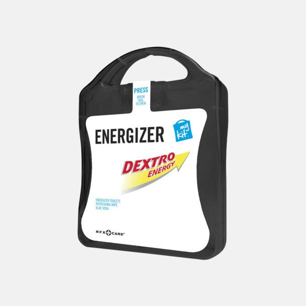 Svart Energifyllt första hjälpen-kit med reklamtryck