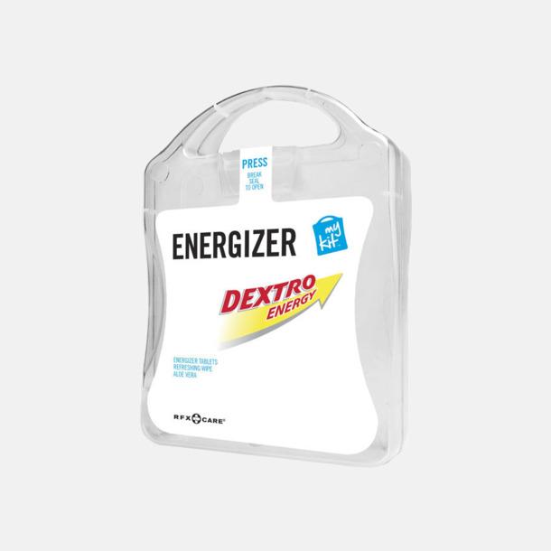 Vit Energifyllt första hjälpen-kit med reklamtryck