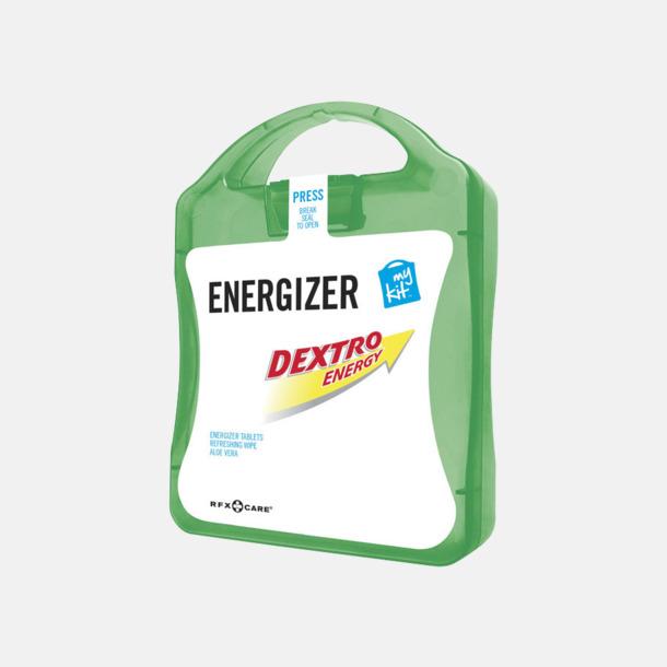 Grön Energifyllt första hjälpen-kit med reklamtryck