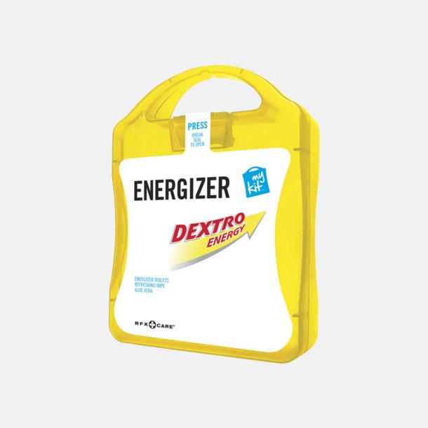 Gul Energifyllt första hjälpen-kit med reklamtryck