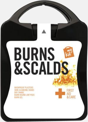 Första hjälpen kit vid ytliga brännskador - med reklamtryck
