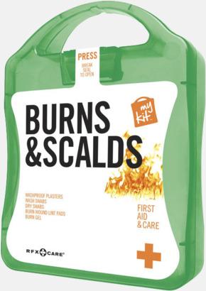 Grön Första hjälpen kit vid ytliga brännskador - med reklamtryck