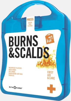 Blå Första hjälpen kit vid ytliga brännskador - med reklamtryck
