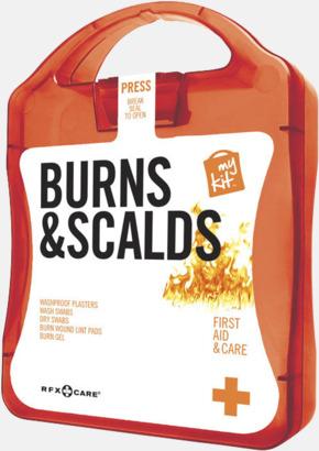 Röd Första hjälpen kit vid ytliga brännskador - med reklamtryck