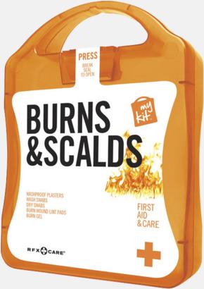 Orange Första hjälpen kit vid ytliga brännskador - med reklamtryck