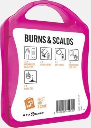 Baksida Första hjälpen kit vid ytliga brännskador - med reklamtryck