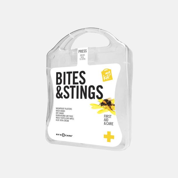 Vit Första hjälpen-kit vid insektsbett med reklamtryck