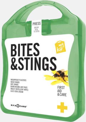 Grön Första hjälpen-kit vid insektsbett med reklamtryck