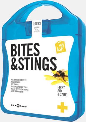 Blå Första hjälpen-kit vid insektsbett med reklamtryck