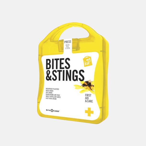 Gul Första hjälpen-kit vid insektsbett med reklamtryck