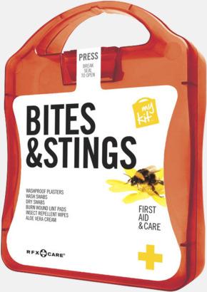 Röd Första hjälpen-kit vid insektsbett med reklamtryck