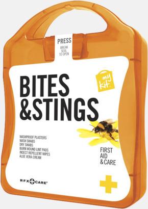Orange Första hjälpen-kit vid insektsbett med reklamtryck