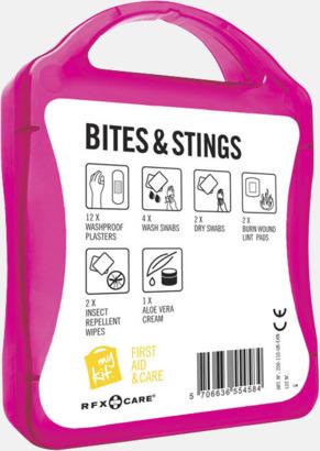 Baksida Första hjälpen-kit vid insektsbett med reklamtryck