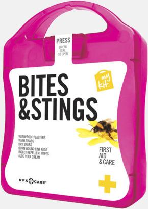 Magenta Första hjälpen-kit vid insektsbett med reklamtryck