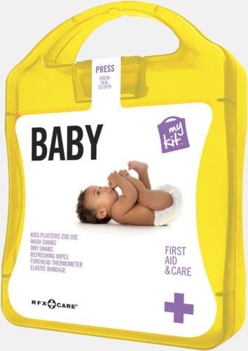 Gul Kit för nyblivna föräldrar - med reklamtryck