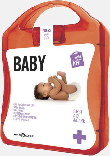 Röd Kit för nyblivna föräldrar - med reklamtryck