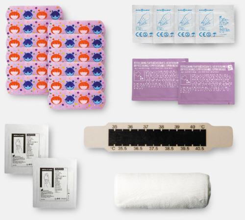 Innehåll Kit för nyblivna föräldrar - med reklamtryck