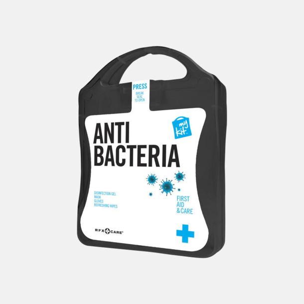 Svart Antibakteriellt set med reklamtryck