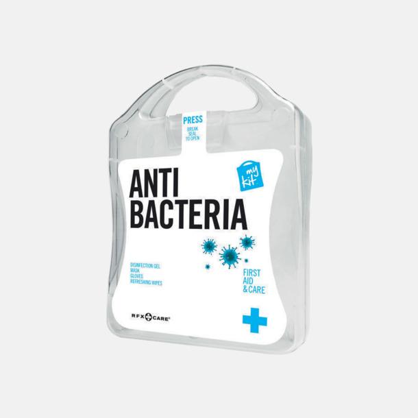 Vit Antibakteriellt set med reklamtryck