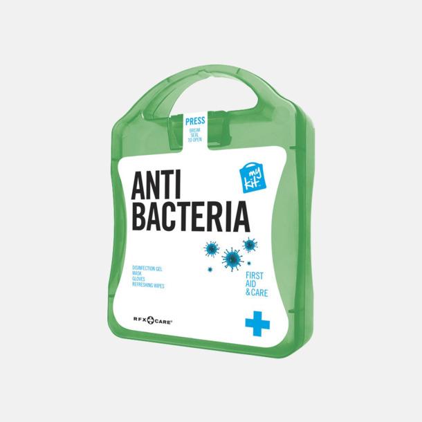Grön Antibakteriellt set med reklamtryck