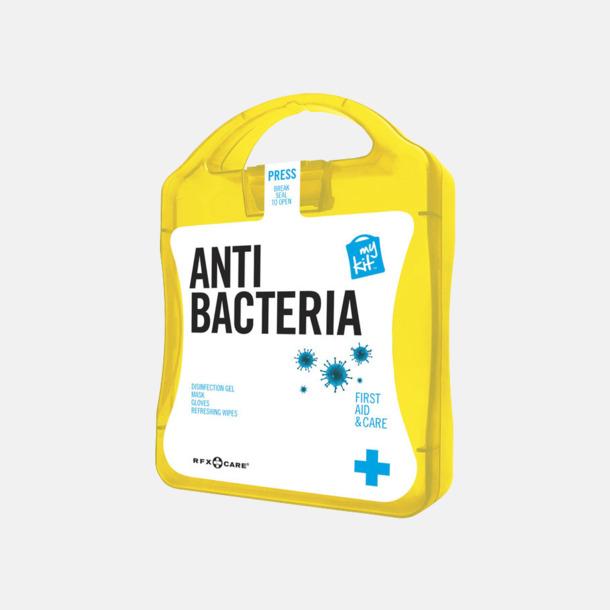 Gul Antibakteriellt set med reklamtryck
