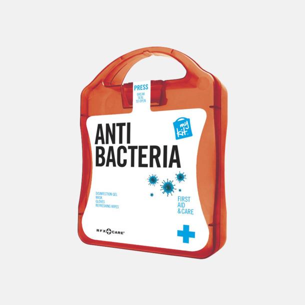 Röd Antibakteriellt set med reklamtryck