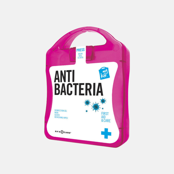 Magenta Antibakteriellt set med reklamtryck