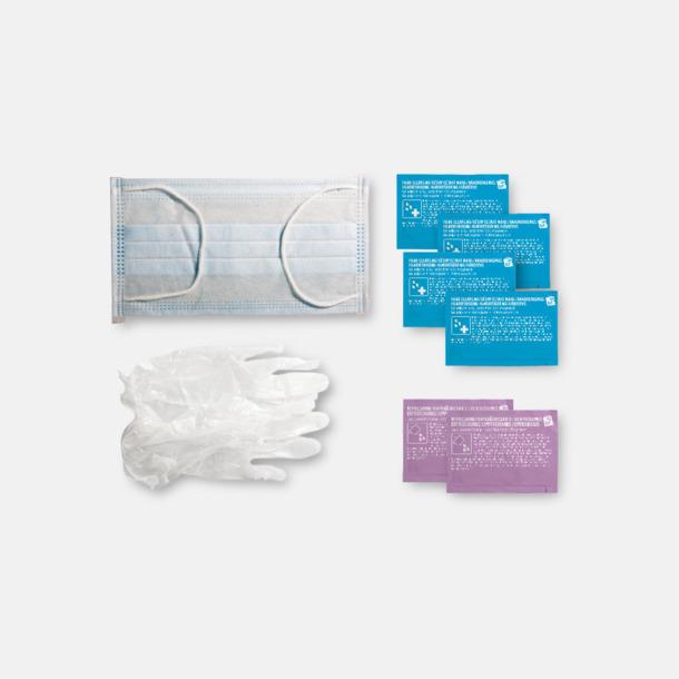 Innehåll Antibakteriellt set med reklamtryck