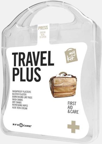 Vit Travel plus aid kit med reklamtryck
