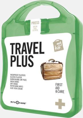 Grön Travel plus aid kit med reklamtryck