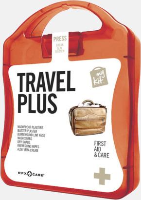 Röd Travel plus aid kit med reklamtryck