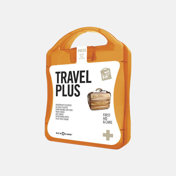 Orange Travel plus aid kit med reklamtryck
