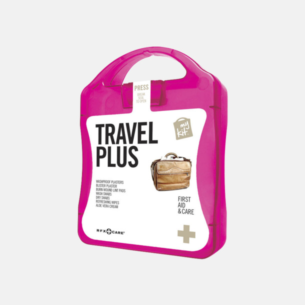 Magenta Travel plus aid kit med reklamtryck