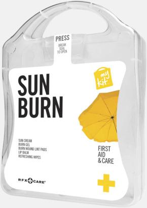 Vit Solskydds-kit med reklamtryck