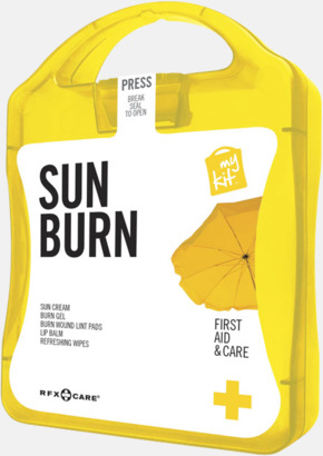 Gul Solskydds-kit med reklamtryck
