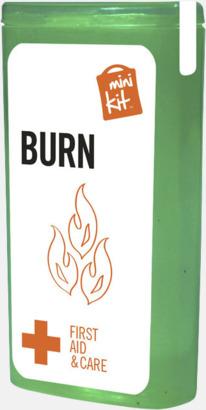 Grön Mini brännsårskit med reklamtryck